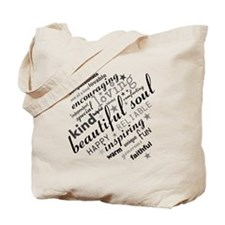 Positive Thinking Text Tote Bag
