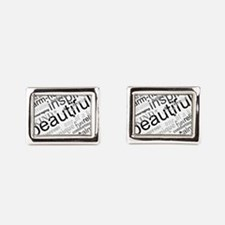Positive Thinking Text Rectangular Cufflinks