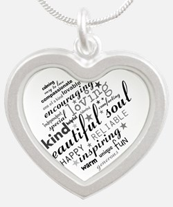 Positive Thinking Text Necklaces