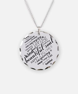 Positive Thinking Text Necklace
