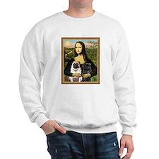Mona Lisa (new) & Pug Pair Sweatshirt
