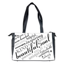 Positive Thinking Text Diaper Bag