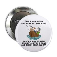 Teach A Man To Fish Button