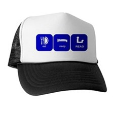 eat sleep read Trucker Hat