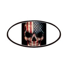 American flag skull Patches