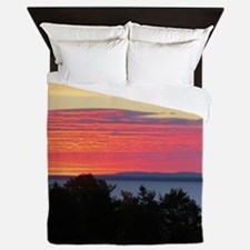 Lake Superior Sunrise Queen Duvet