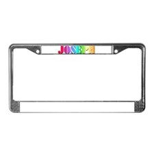 Technicolor Dreamcoat License Plate Frame