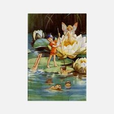 WATER LILY FAIRIES Rectangle Magnet