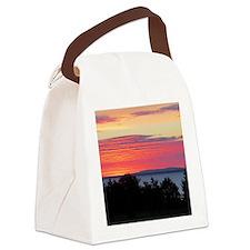 Lake Superior Sunrise Canvas Lunch Bag
