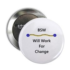 """BSW Will Work for Change 2.25"""" Button (100 pack)"""
