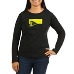 Vanishing Train Women's Long Sleeve Dark T-Shirt