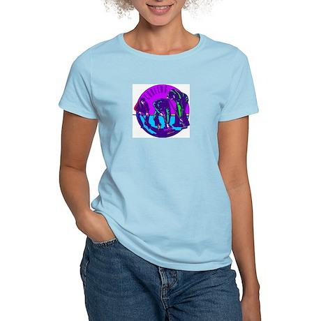 """Curling"" Women's Pink T-Shirt"