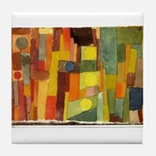 Paul Klee In The Style Of Kairouan Tile Coaster