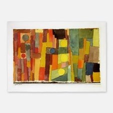 Paul Klee In The Style Of Kairouan 5'x7'Area Rug