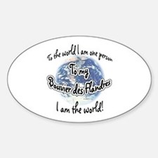 Bouvier World2 Oval Decal