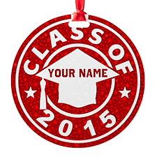 Class Of 2015 Graduation Round Ornament