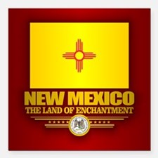 "New Mexico (v15) Square Car Magnet 3"" x 3"""