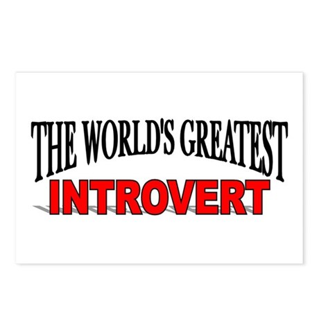 """The World's Greatest Introvert"" Postcards (Packag"
