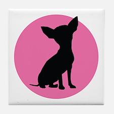 Polka Dot Chihuahua - Tile Coaster