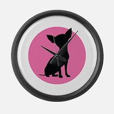 Polka Dot Chihuahua - Large Wall Clock