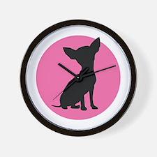 Polka Dot Chihuahua - Wall Clock