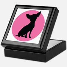 Polka Dot Chihuahua - Keepsake Box