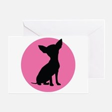 Polka Dot Chihuahua - Greeting Card