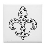 Fleur de lis Paws Tile Coaster