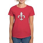 Fleur de lis Paws Women's Dark T-Shirt