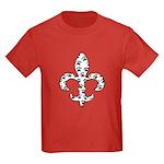 Fleur de lis Paws Kids Dark T-Shirt