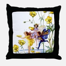 BUTTERCUP FAIRIES Throw Pillow