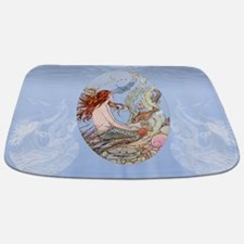 Redheaded Goble Mermaid! Kids Bathmat