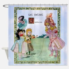 1888 Bebe Jumeau Doll 4 Kids Shower Curtain