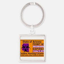Zombie License Keychains