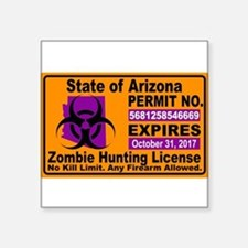 Zombie License Sticker