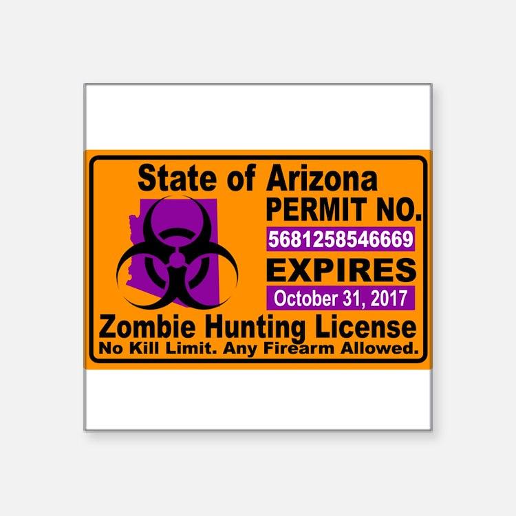 Zombie License Sticker