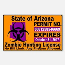 Zombie License Decal