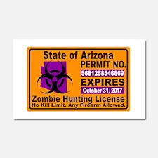 Zombie License Car Magnet 20 x 12