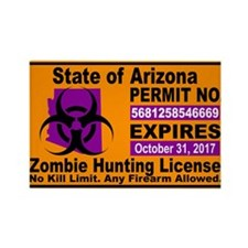 Zombie License Magnets
