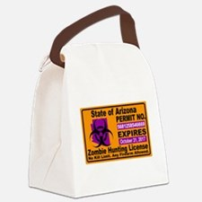 Zombie License Canvas Lunch Bag