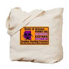 Zombie License Tote Bag