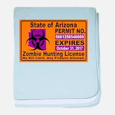 Zombie License baby blanket