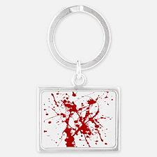 Red Splatter Keychains