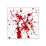 Blood splatter Bumper Stickers