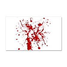Red Splatter Car Magnet 20 x 12
