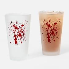 Red Splatter Drinking Glass