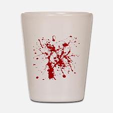 Red Splatter Shot Glass