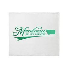 Montana State of Mine Throw Blanket