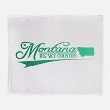 Montana State of Mine Throw Blanket