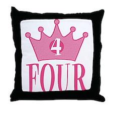 Four - 4th Birthday - Princess Birthday Party Thro
